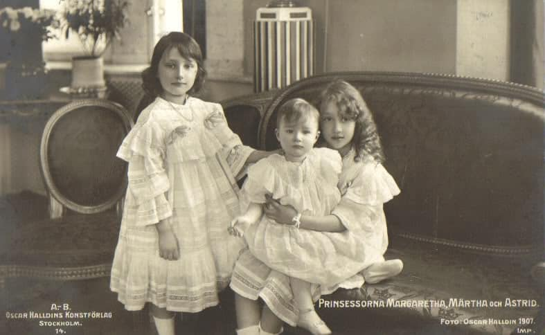 Princesses Martha Margaretha and Astrid of Sweden