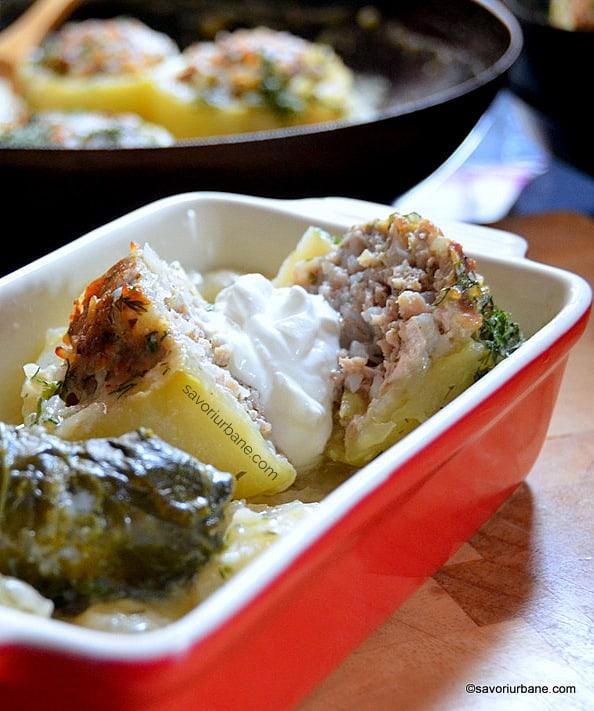 servire gulii calarabe umplute cu carne tocata cu smantana (2)
