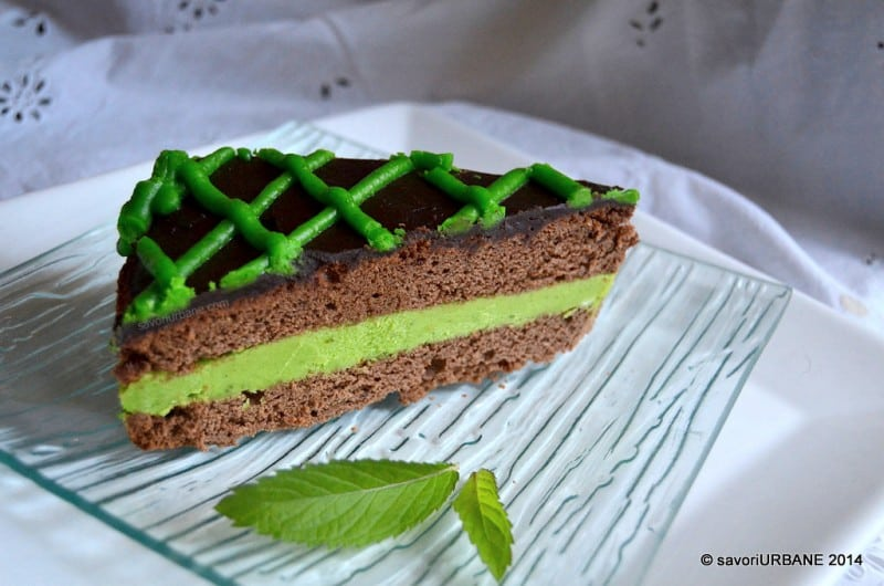 Tort cu menta si ciocolata After Eight (1)
