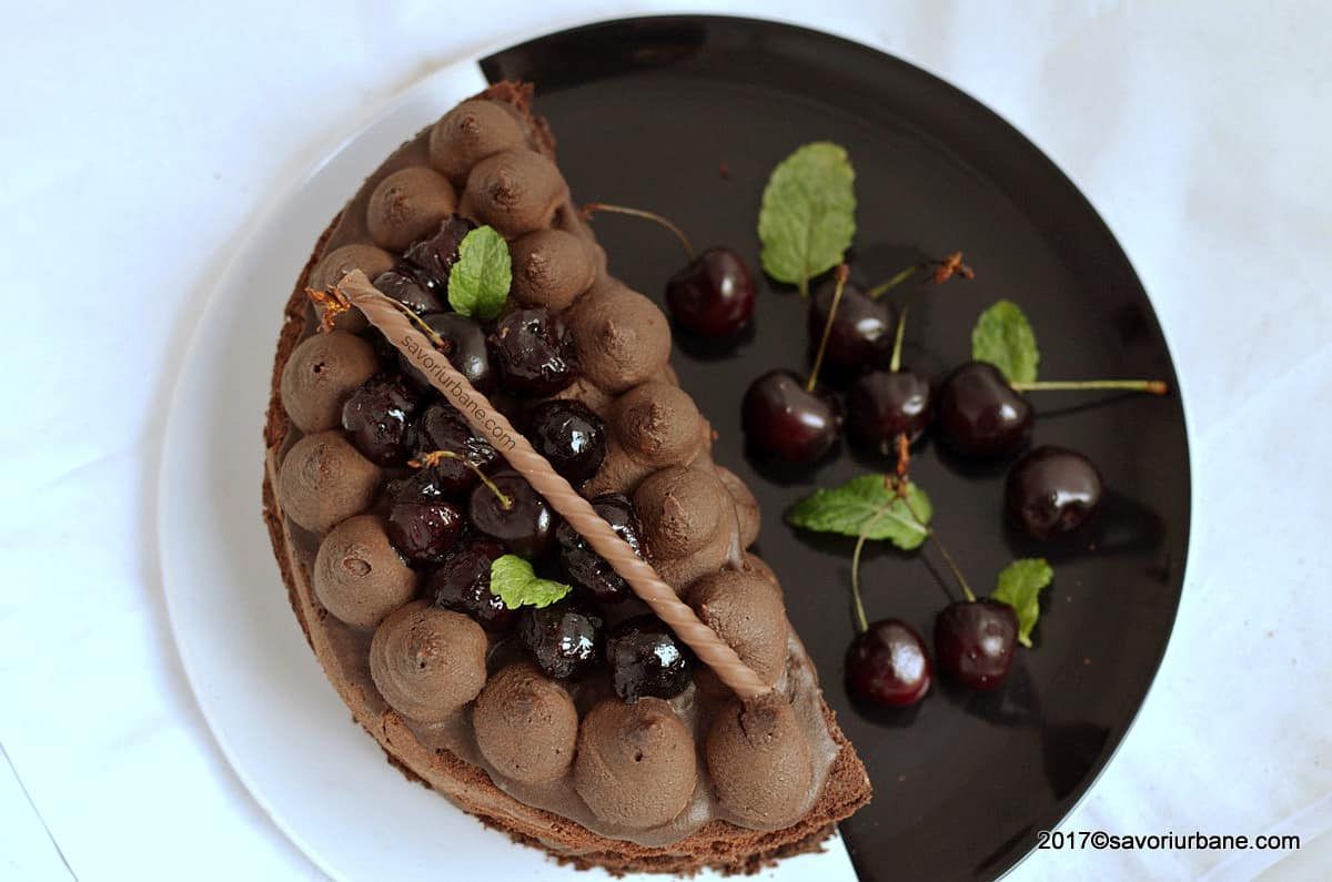 Mon Cheri cherry chocolate cake