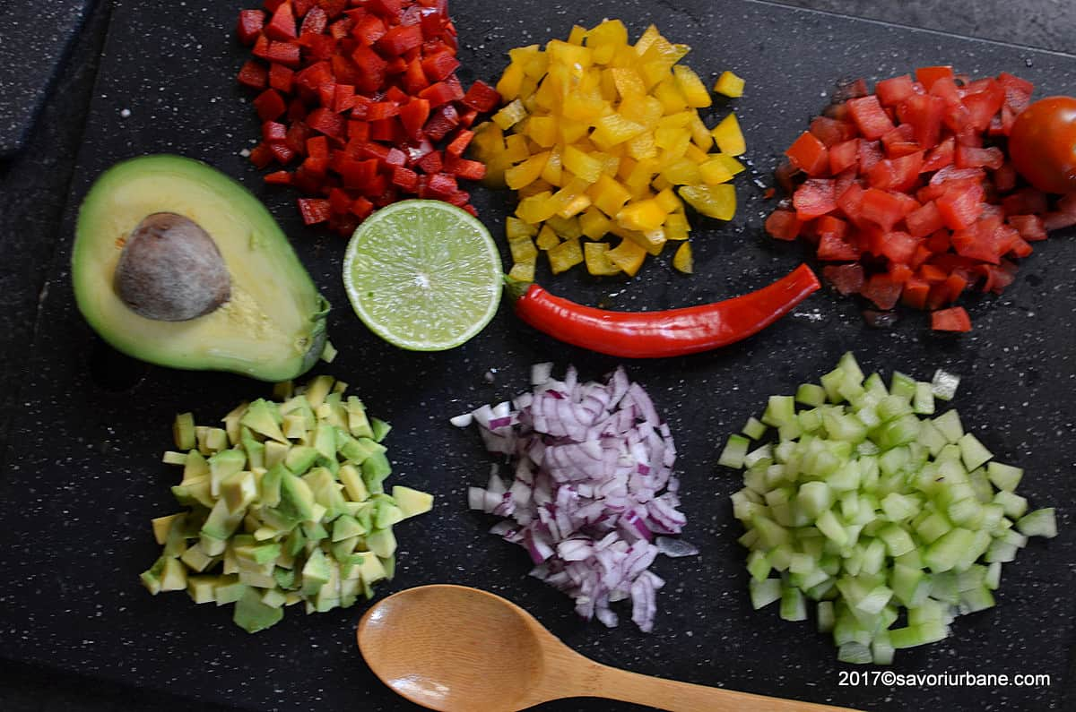 ingrediente salata mexicana pico de gallo reteta