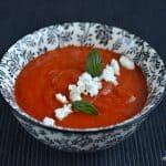 Supă de roșii cu ardei copți și usturoi