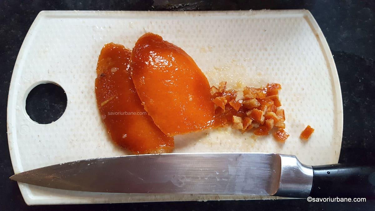coaja confiata de portocale facuta in casa