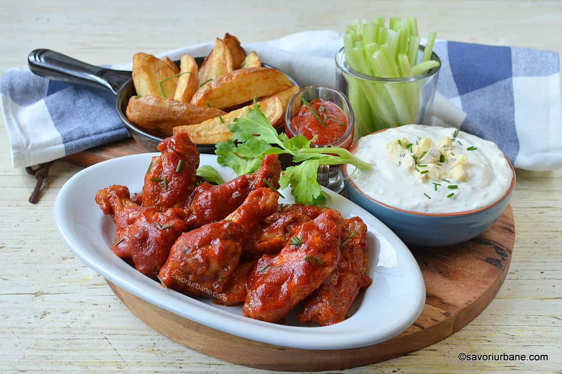 aripioare picanta in stil buffalo chicken wings reteta