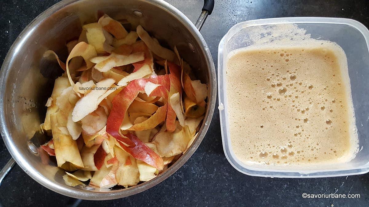 cum se scoate pectina din coji si cotoare de mere fierte